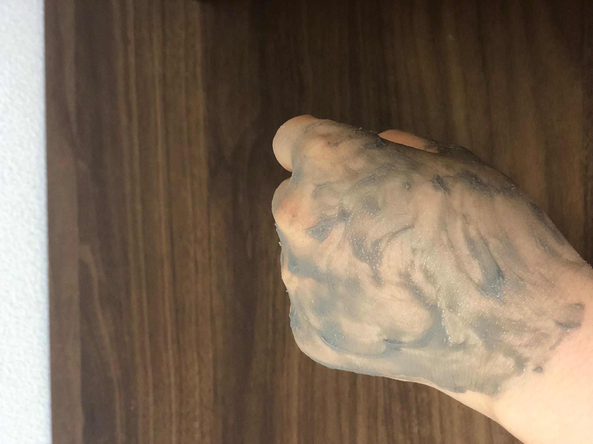 クリームを細かく塗る